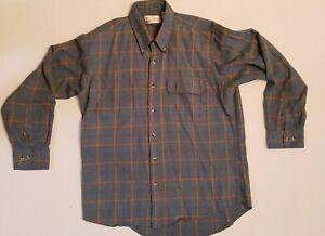 Sears-amp-Roebucks-vintage-mens-long-sleeve-Large-size-plaid-shirt-made-in-USA
