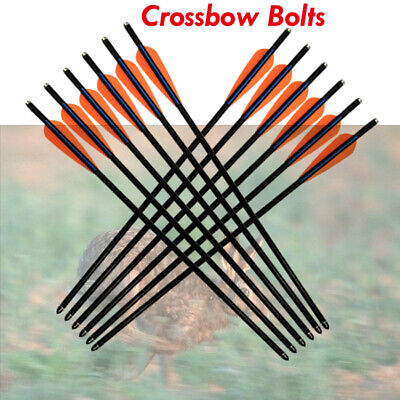 """20/"""" Fiberglass Crossbow Bolts for Archery Bow Hunting Field Point Powerf 6//12pcs"""