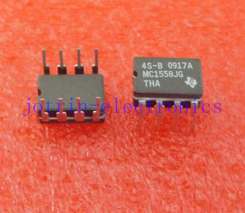 d/'exploitation tempera Température de fonctionnement Min. -55 C 5PCS MC1558JG DIP-8 5 V pour 15 V