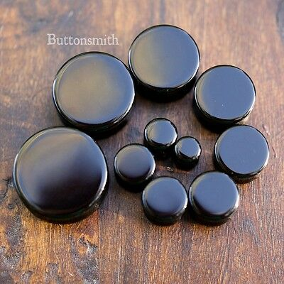"Pair of Black Obsidian Organic Stone PlugsGauges Ear 8g 6g - 1/2"" - 1"" -13 sizes"