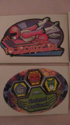 Selten Sammlerstück Saban/'s Power Rangers 12 Teile Automaten Aufkleber-Set 1999