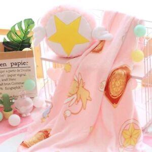 Anime-Card-Captor-Sakura-Kinomoto-Pillow-Soft-Plush-Flannel-Blanket-Bed-Throw