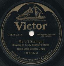 78 14BB - MALE/FEMALE VOCAL DUET - VICTOR 18166 - LILLIAN DAVIS-GEOFFREY O'HARA