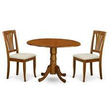 3 Pc Kitchen Nook Dining Set-Round Kitchen Table And 2 Dinette Chairs NEW