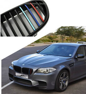 BMW Kidney Grill M Sport Colour Stripes Sticker Vinyl Decal M E - Bmw m colored kidney grille stripe decals