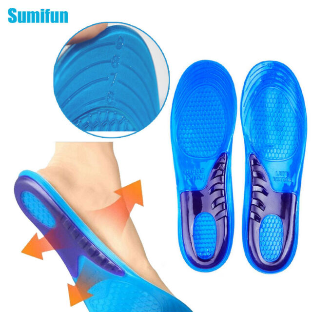 2Pcs Gel Insole Orthotic Arch Sport Shoe Pad Running Shock Absorption Insoles