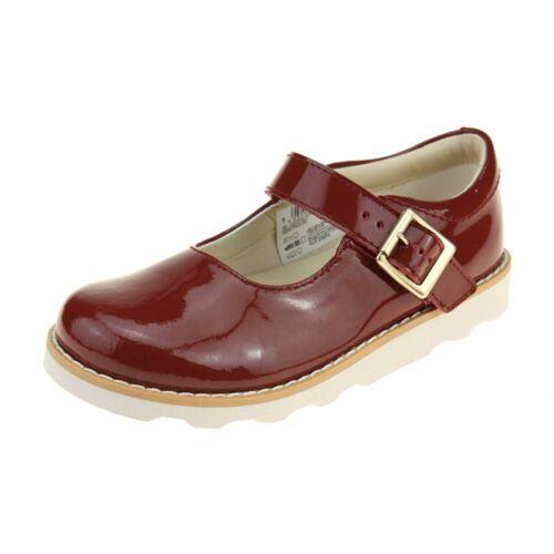 Clarks Crown Honor Girls Orange Patent Shoe