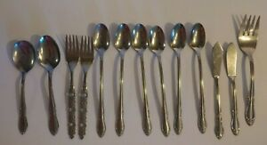 Vintage-Oneida-Flatwear-Silverware-13-Assorted-Pieces-Lot-Kitchenware
