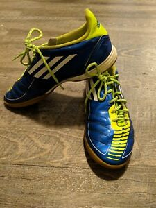 Adidas F50/F10 mens Indoor Soccer Cleats Blue/Green/white ...