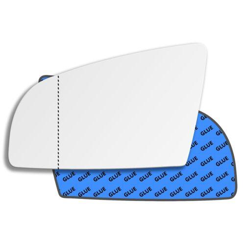 Lado Izquierdo Cristal Espejo Gran Angular Para AUDI A4 B6 B7 2000-2008 0006LAS
