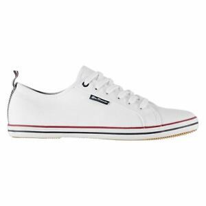 Ben-Sherman-Mens-Lestar-Trainers-Low-Lace-Up-Canvas-Tonal-Stitching