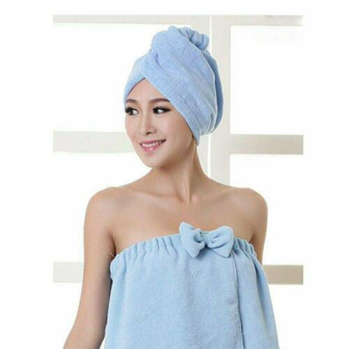 Rapid Fast Drying Hair Absorbent Towel Cap Soft Thick Shower Hat Hair Dryer New