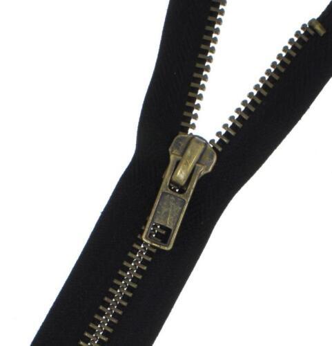 Reißverschluss MBG Metall Brüniert GROBE stark Metallreißverschlüsse teilbar 8mm