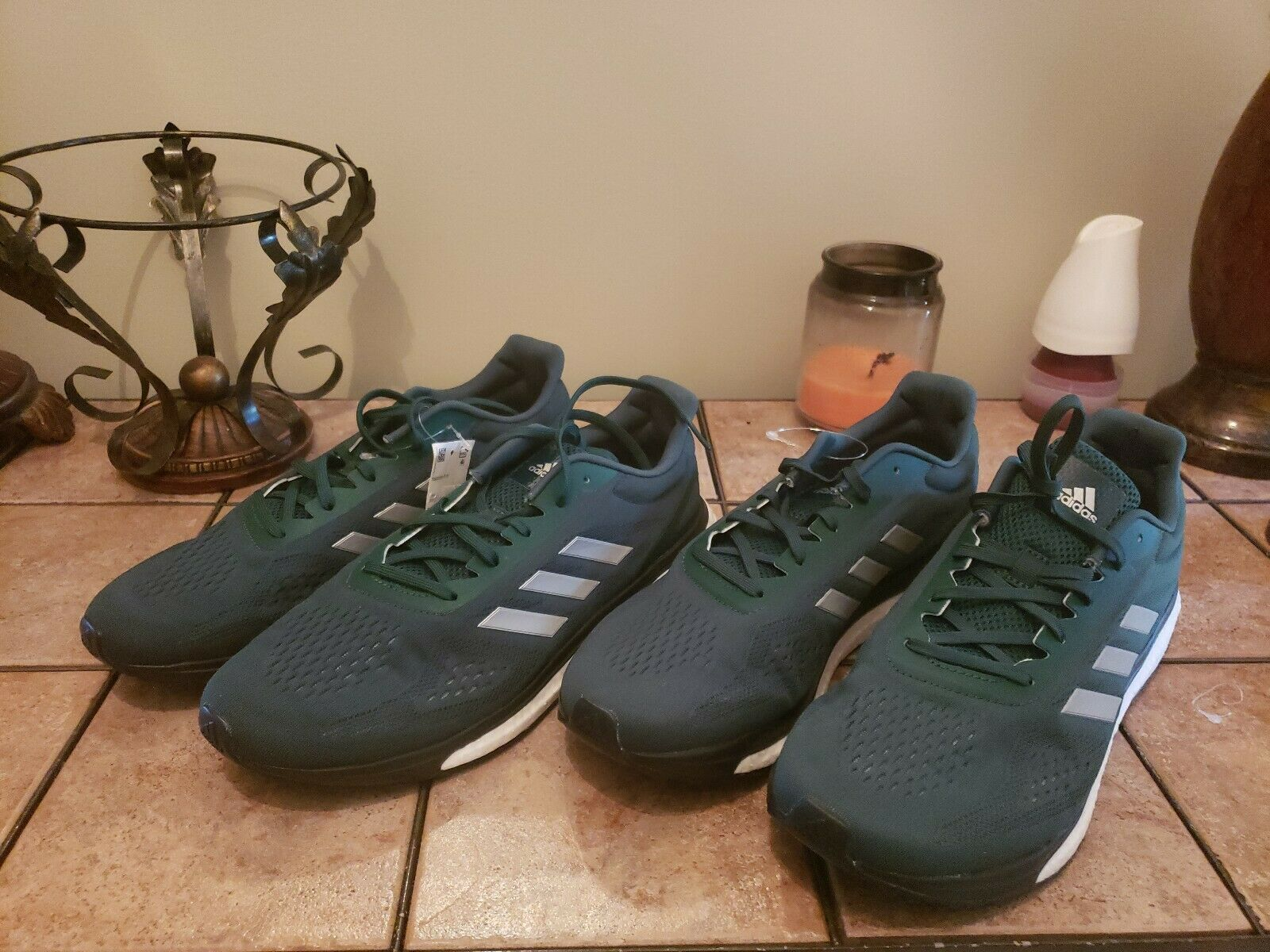 New Adidas Response Limited LT Boost Mens Running shoes. Size 12. Green CP9688