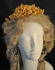 ROMANTIC 1920's WEDDING TIARA BRIDAL WAX PETALED BLOSSOMS HEADPIECE