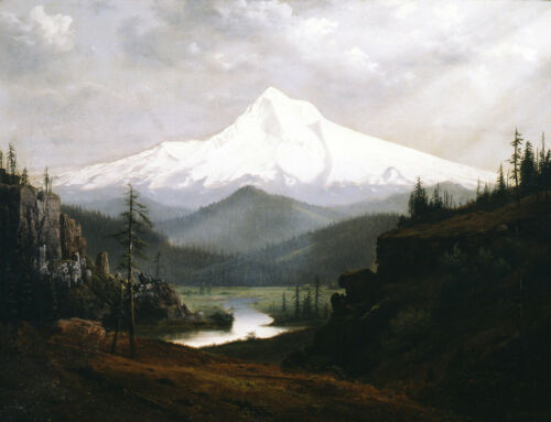 Mt Hood   by William S Parrott   Giclee Canvas Print Repro