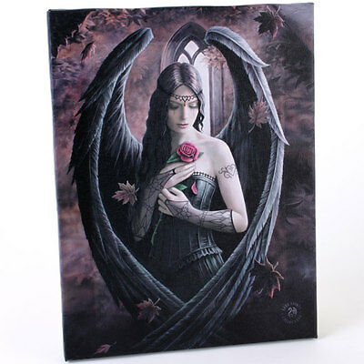 Fantasy Gothic Art Canvas Wall Plaque~Angel Rose~ Anne Stokes~F~uk seller