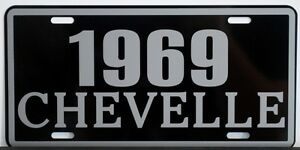1969 69 CHEVELLE METAL LICENSE PLATE SS SUPER SPORT 327 350 396 427 CONVERTIBLE