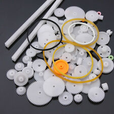 75pcs Type Plastic Shaft Single Double Reduction Crown Worm Gears DIY For Robot