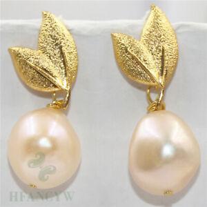 14mm Pearl Drop Earrings