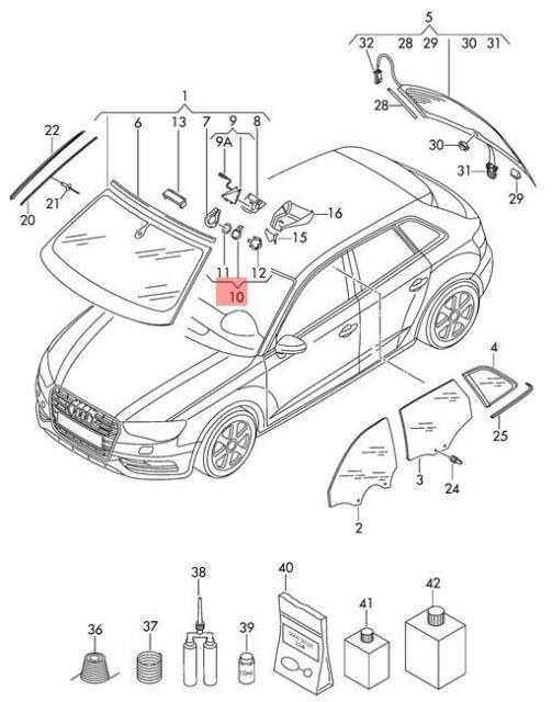 Genuine Sensor For Air Humidity Rain And Light Detection Audi