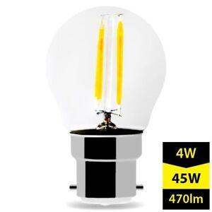 Del Filament Ampoules B22 G45 Regular Baïonnette Cap Blanc Chaud 4 W Set 2x 6x 10x-afficher Le Titre D'origine ExtrêMement Efficace Pour Conserver La Chaleur