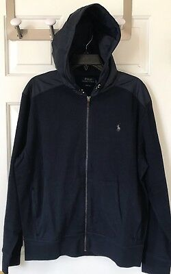 Polo Ralph Lauren Estate Rib Full Zip Hoodie Sweater Jacket L Large NWT