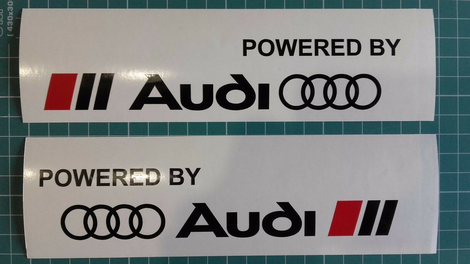 Powered by Audi sticker decal