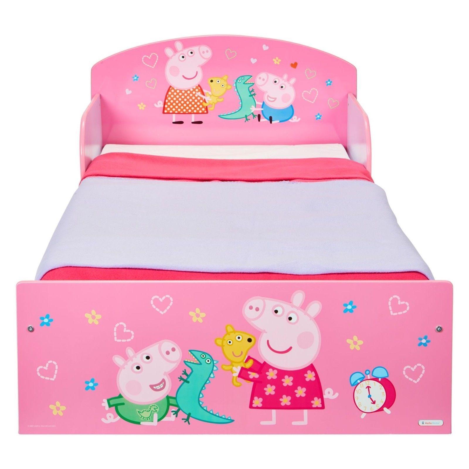 Peppa Pig Wutz Bett 70x140 Kinderbett Babybett Mädchen Jungen Möbel Kinderzimmer