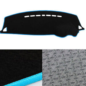 Anti-Slip-Dash-Mat-Cover-Black-w-Sky-Blue-for-10-2007-2019-Mitsubishi-Lancer