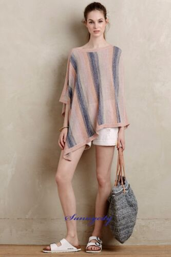 RARE NEW Anthropologie Zala Poncho by Moth M//L Soft and Flowy Great for Fall