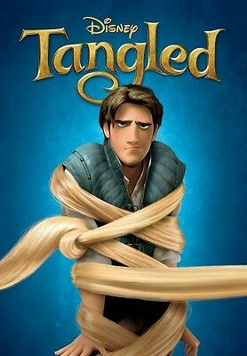 Walt Disney's TANGLED movie poster print  :  12 x 17 inches FLYNN RIDER