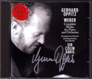 Gerhard-OPPITZ-Signiert-WEBER-Piano-Concerto-No-1-2-Polonaise-COLIN-DAVIS-RCA-CD