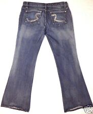 Rock & Republic Stretch denim boot cut flare blue jeans pants size 31