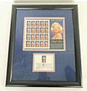 Marilyn-Monroe-Complete-Legends-Of-Hollywood-Stamps-1995-w-1ST-ISSUE-Framed