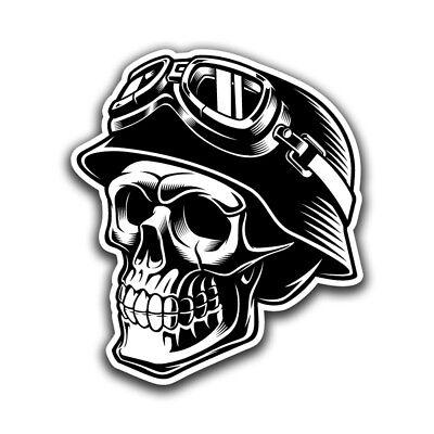 Skull Biker Helmet Sticker Motorcycle Hard Hat Welder