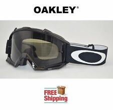 OAKLEY® PROVEN™ GOGGLES MX ATV MOTOCROSS MOTORCYCLE DIRT GLOSS BLACK TINTED LENS