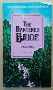 The Bartered Bride programme ENO English National Opera 1985 Edmund Barham