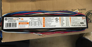 Box of 10 New GE T8 Electronic Multi-Volt Fluorescent Ballasts