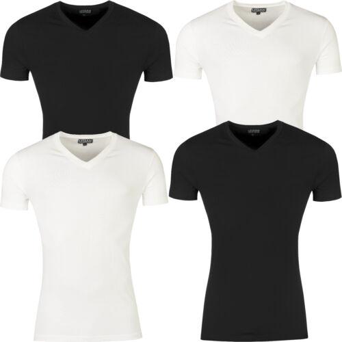 New Mens T Shirt Slim Fit V Neck Muscle Top Short Sleeve Plain Cotton Summer Gym
