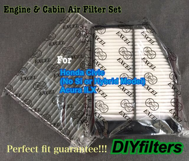 Engine & Carbonized Cabin Air Filter For CIVIC 2012-15 ILX