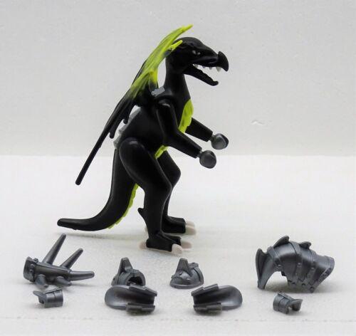 Black Battle Dragon Playmobil to Dragons Dragon Armor Magic Dragon Wings