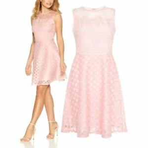 New-Ex-Quiz-Ladies-PINK-Lace-Skater-dress-Xmas-Party-Dress-Size-8-16