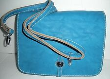 NEW Womens Blue Teal Faux Leather Cross body Purse Handbag, Bag, Fashion, Style