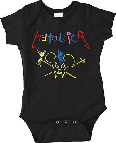 Nouveau Metallica crayon Scary Guy bébé ange One Piece 6-24 mois badhabitmerch