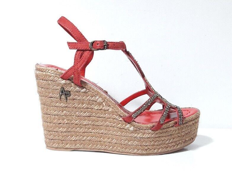 SANDALI chaussures femmes APEPAZZA 502712 DIASY CAMOSCIO rouge ZEPPA ALTA PLATEAU