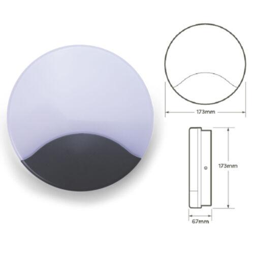 HiSpec Michigan PIR Sensor LED IP54 Outdoor Wall Garden Adjustable CCT Light