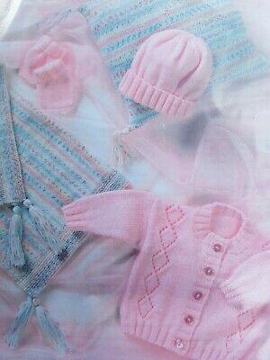 DK PATTERN 12-22inch  Cardigan blanket mittens hat cushion babies toddler  135