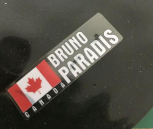 5 xpersonalised Nom /& Drapeau Cyclisme Cadre de vélo casque autocollant 12 mm LIVRAISON GRATUITE