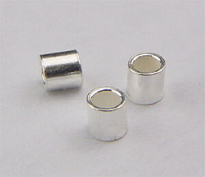 #730 sterling silver crimp beads of 2mm,3mm&4mm